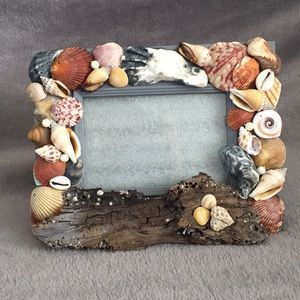 Sea Shell and Driftwood picture frame